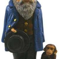 Charles Darwin Statue Figurine