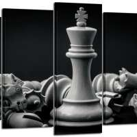 Black and White Chess Wall Art Paintings