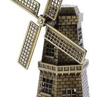 Dutch Landmark Metal Windmill