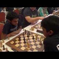 GM Nihal Sarin - GM Rameshbabu Praggnanandhaa, Blitz chess, Reti opening
