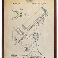 Antique Microscope Patent Poster