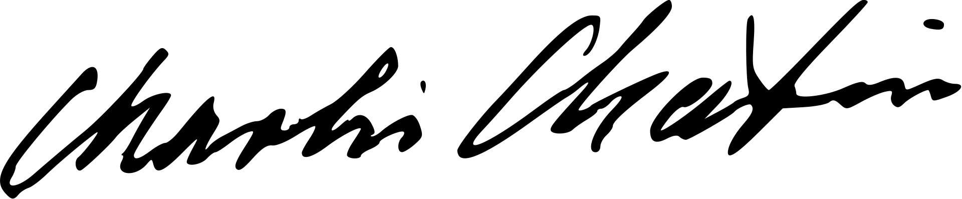 Charlie Spencer Chaplin Signature