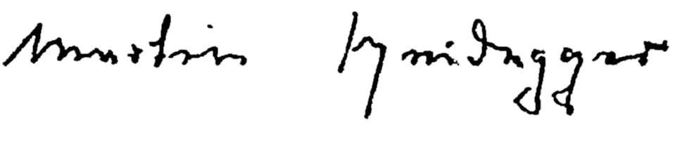 Martin Heidegger Signature