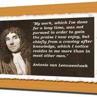 Antonie van Leeuwenhoek Canvas Art Print