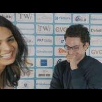 Fabiano Caruana couldn't control his laughter