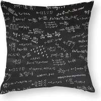 Throw Pillow Cover with Math Formulas