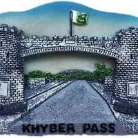 The Khyber Pass Pakistan Fridge Magnet