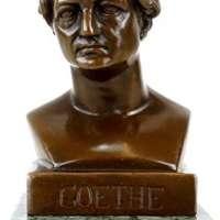 Johann Wolfgang von Goethe Bronze Bust