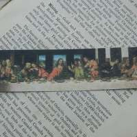 Last Supper bookmark DaVinci Art bookmark metal bookmark