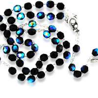 Catholic Rosary with Crystal Glass Beads