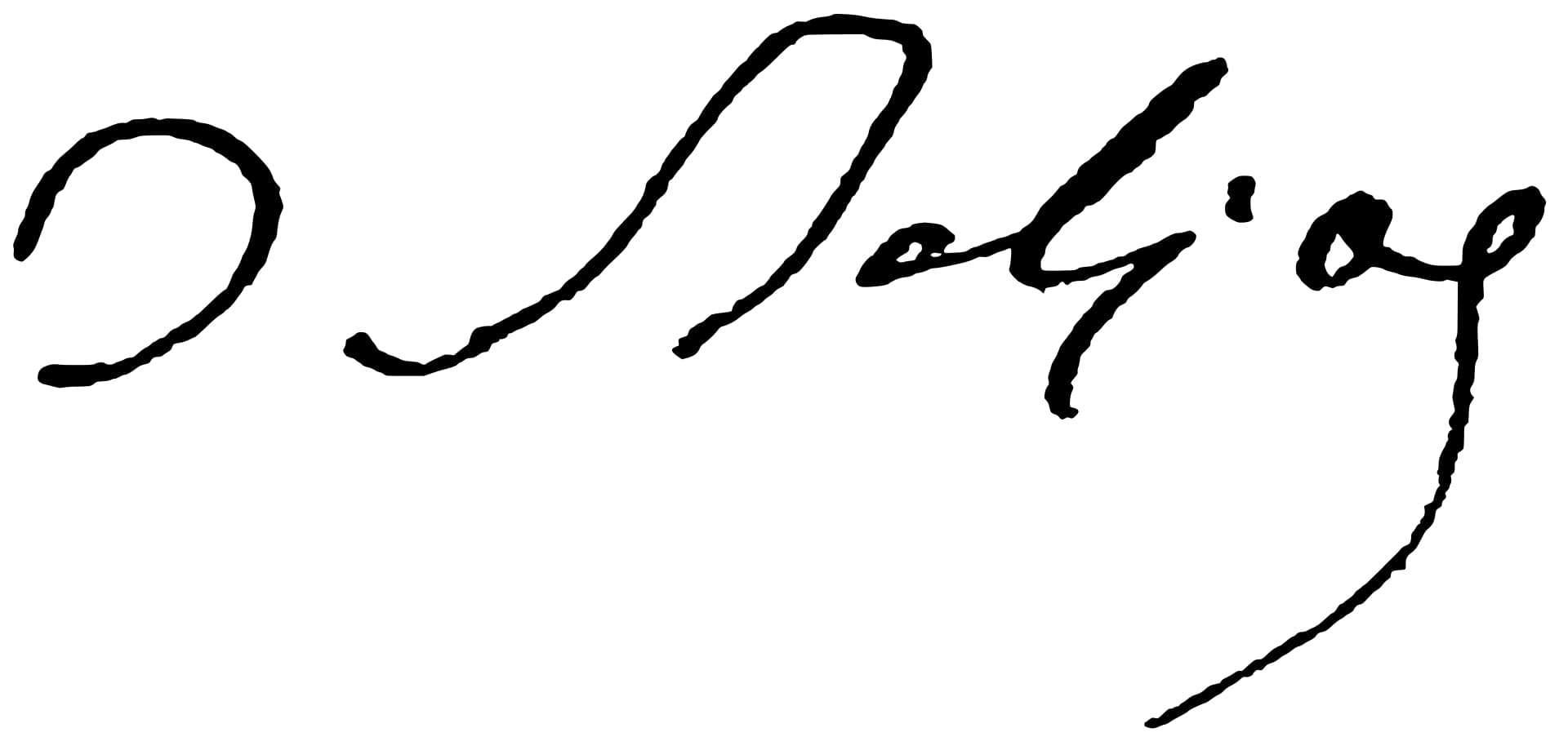 Honoré de Balzac Signature