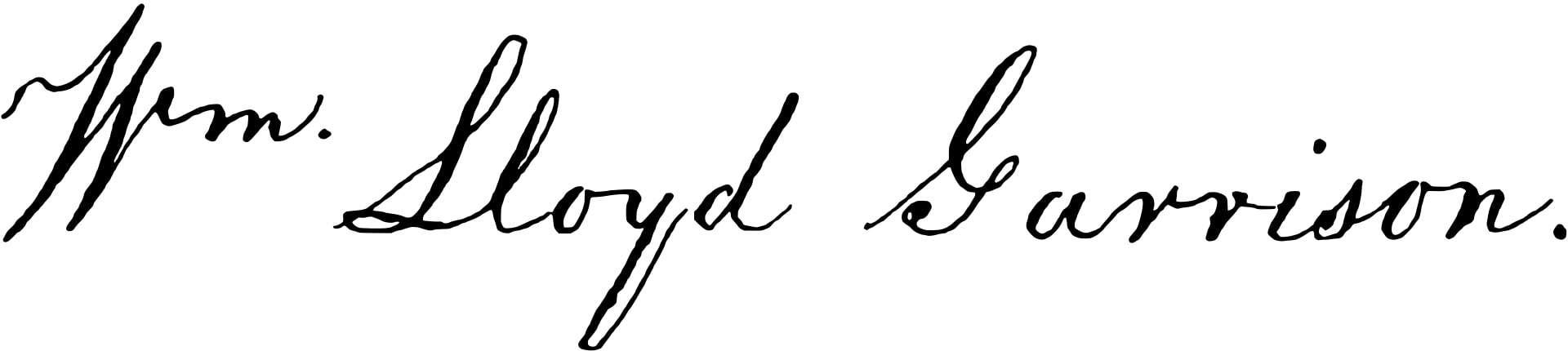 William Lloyd Garrison Signature