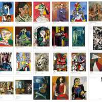 Postcards set of 30 Pablo Picasso Paintings