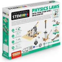 Engino ENG-STEM902 Physics Laws-Inertia, Friction, Circular Motion and Energy Conservation Building Set