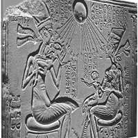 Akhenaten Nefertiti and Daughters Wall Art