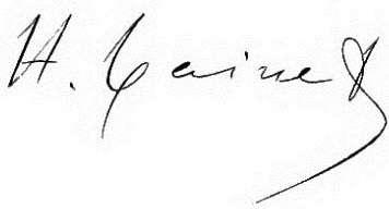 Hippolyte Taine Signature