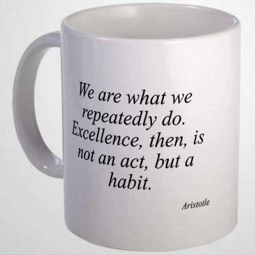 Aristotle Quote Mug