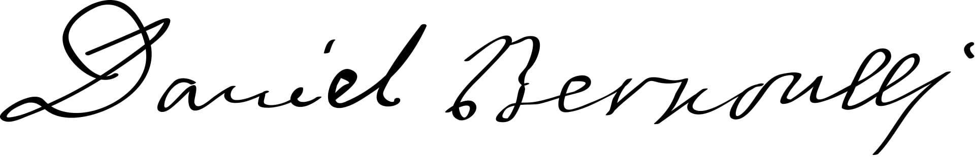 Daniel Bernoulli Signature