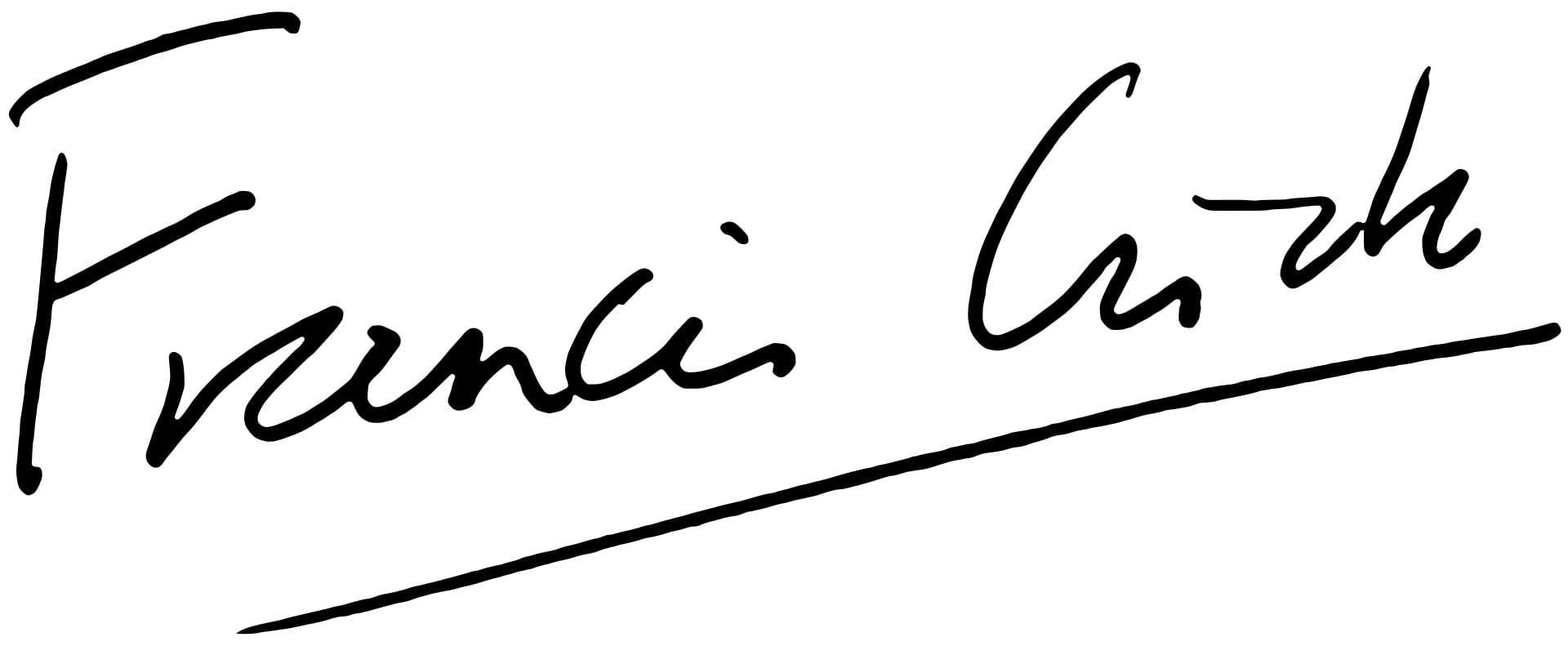 Francis Crick Signature