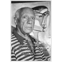 Inspiration Must Find You Working, Pablo Picasso Quote Poster