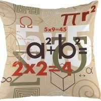 oFloral Math Decorative Throw Pillow Cover