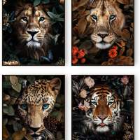 Jungle Safari Animal Wall Art Prints