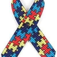 American Made 125 Autism Fabric Awareness Ribbons