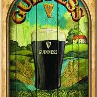 Guinness 'Taste of Ireland' Wooden Wall Art