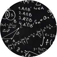Non-Slip Circular Math Rug
