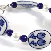 Dutch Blue Delft Porcelain Bracelet