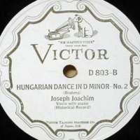 Joseph Joachim - Brahms' Hungarian Dance No.2