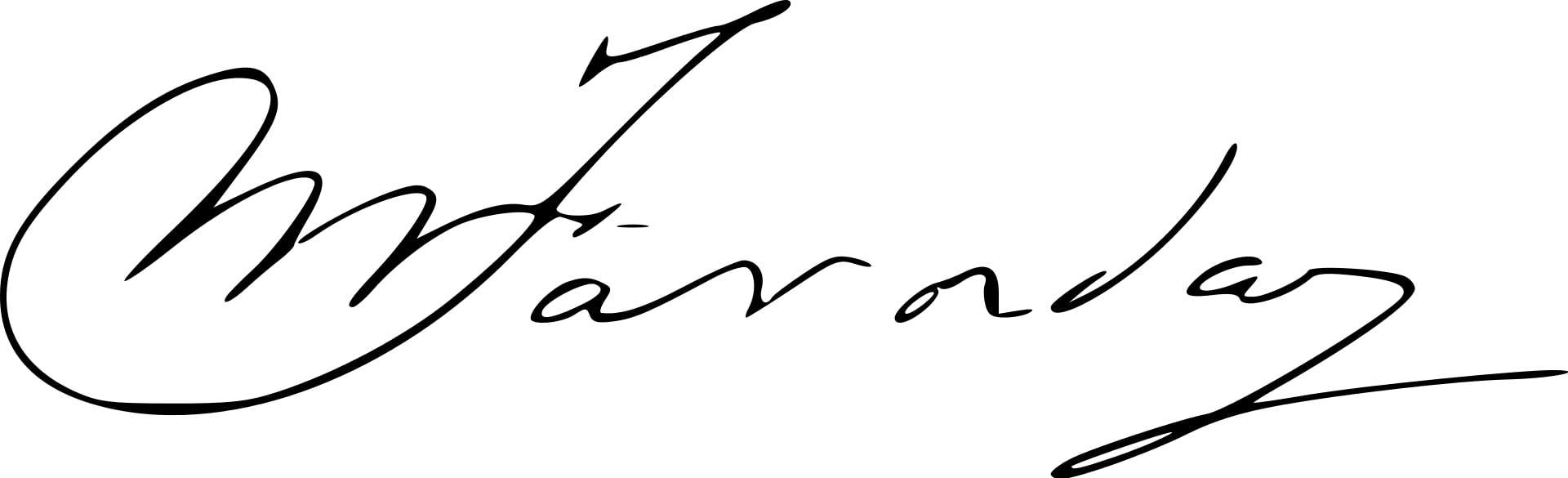 Michael Faraday Signature