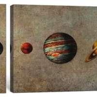 3 Piece The Solar System Canvas Print