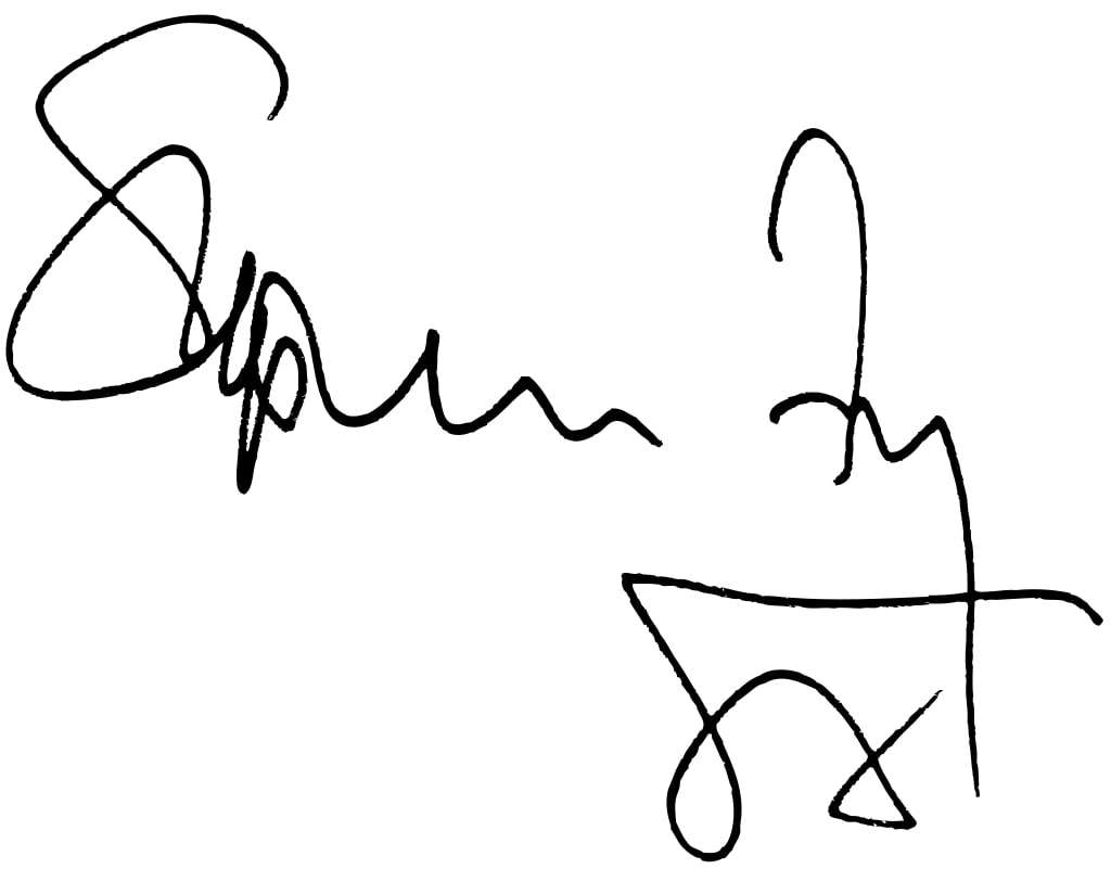 Stephen Fry Signature