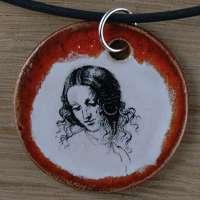 Original handicraft: Leonardo Da Vinci; woman jewellery