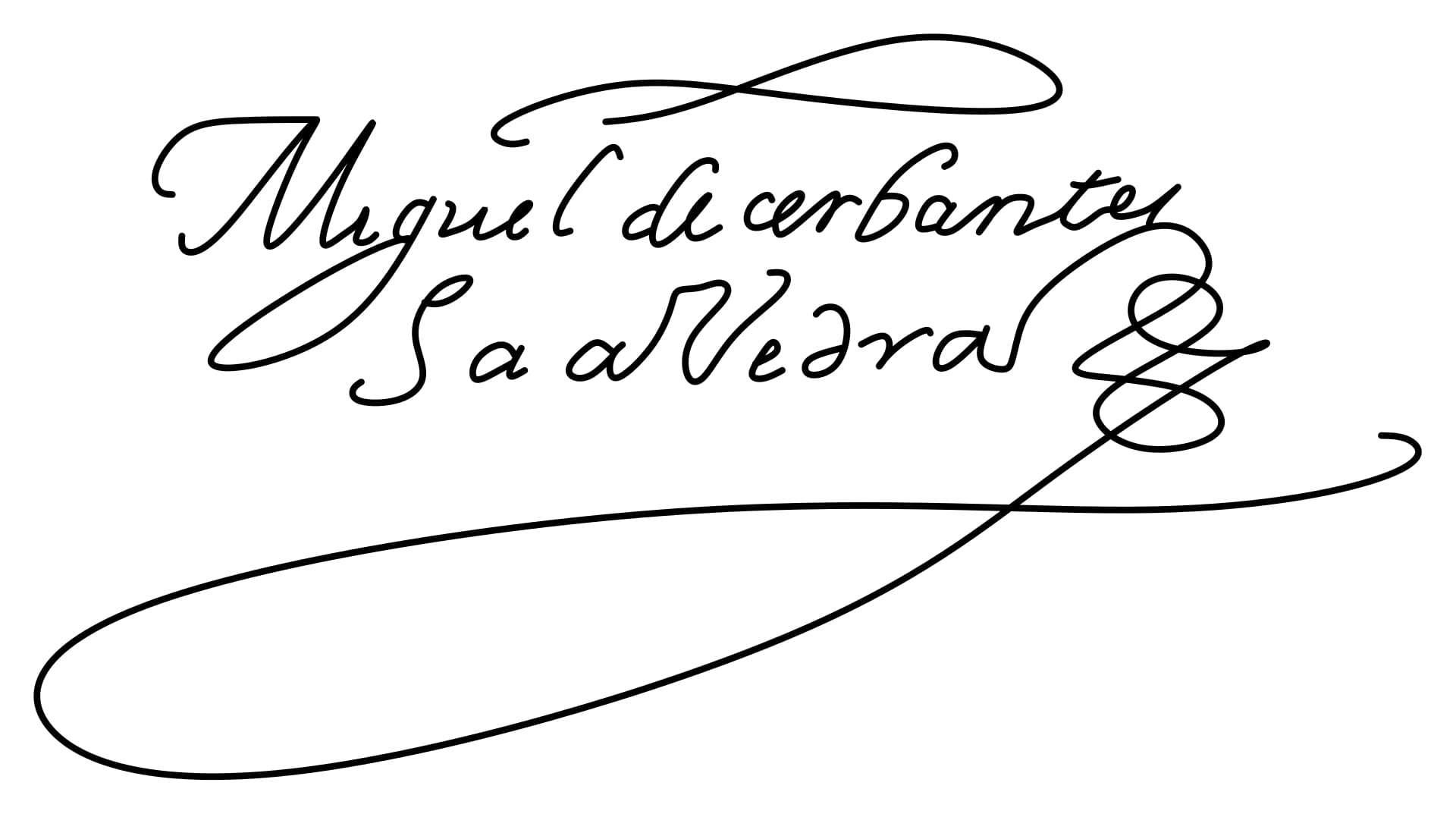 Miguel de Cervantes Signature