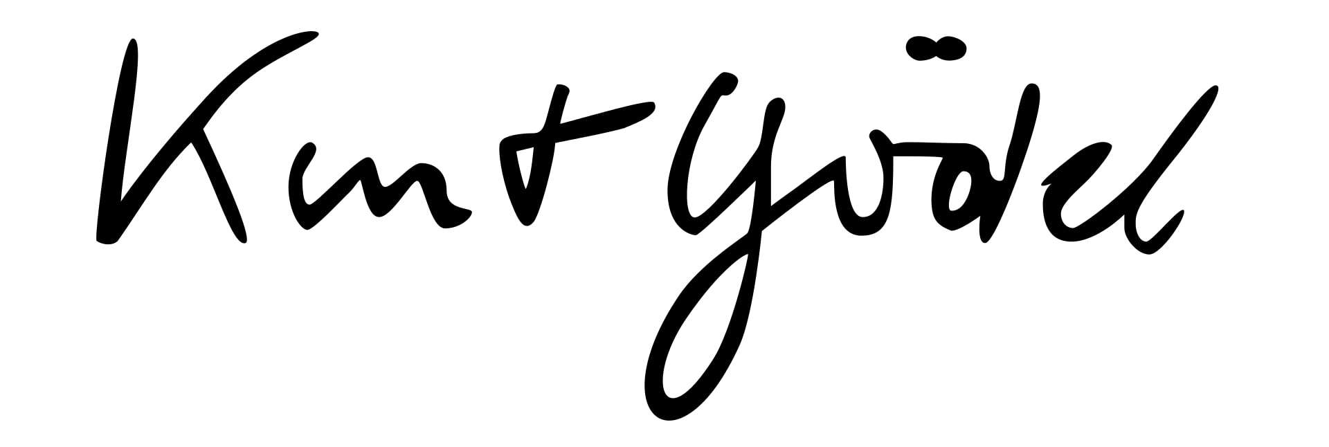 Kurt Gödel Signature