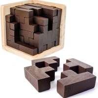 Original 3D Wooden Brain Teaser Puzzle