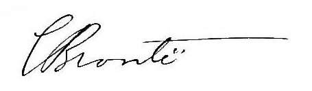 Charlotte Brontë Signature
