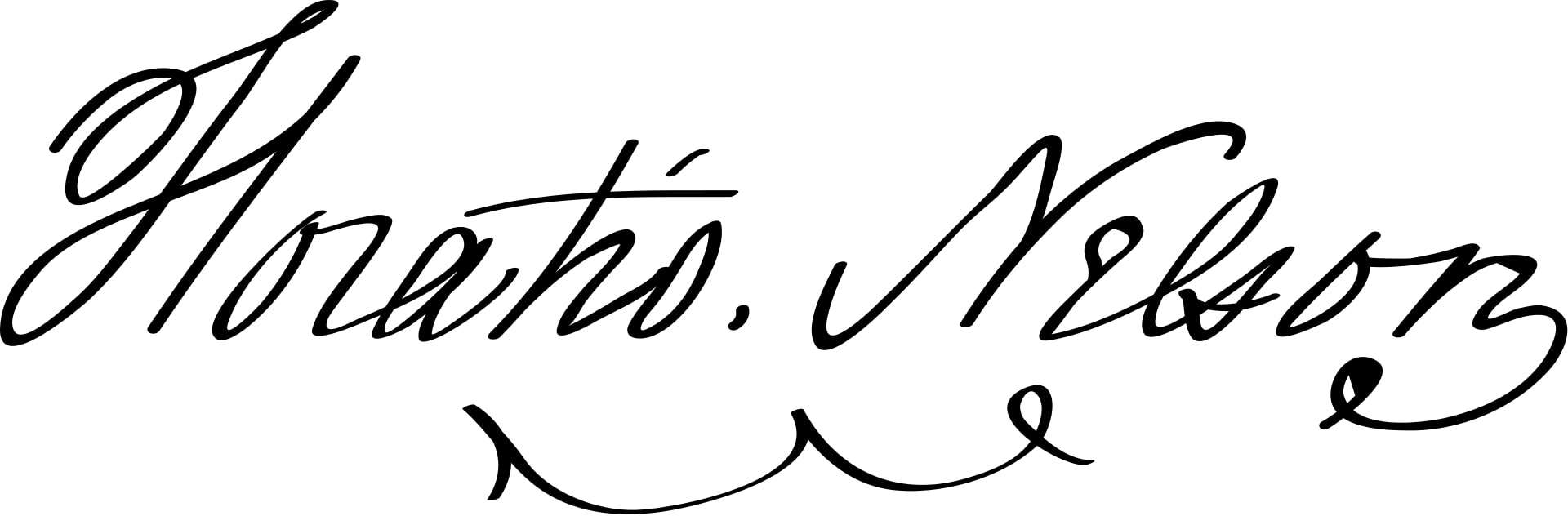 Horatio Nelson, 1st Viscount Nelson Signature