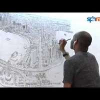 Stephen Wiltshire's Singapore Panorama. Full timelapse