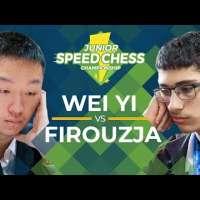 Wei Yi vs Alireza Firouzja: 2019 Junior Speed Chess Championship