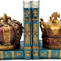 Chess Style Decorative King Queen Bookends