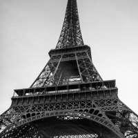 Paris France in Black and White Photo Art Print