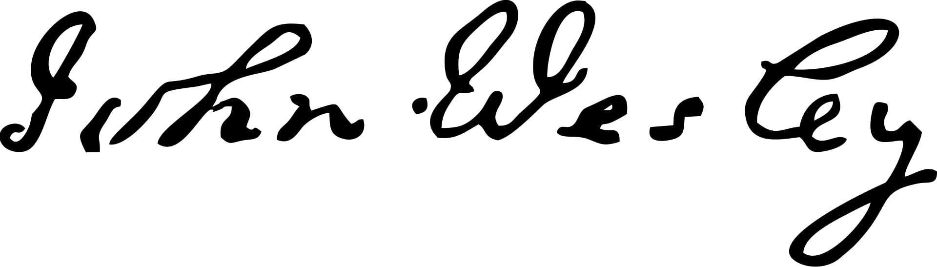 John Wesley Signature