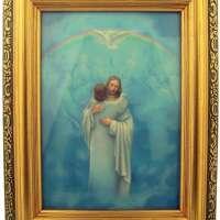 Italian Lithograph Christ Welcome Home Print