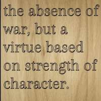 Quote by Baruch Spinoza Wooden Plaque