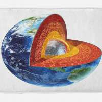 Earth Image Showing The Inner Core Mat