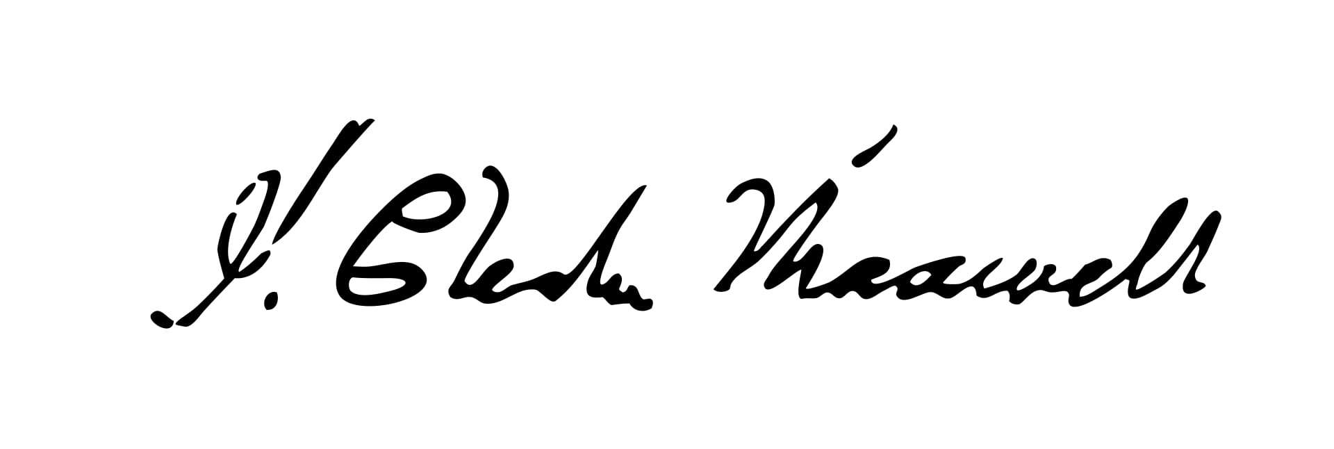 James Clerk Maxwell Signature