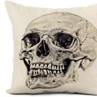 Skull Throw Pillow Cover